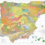 Mapa geologíco de la Península, Baleares y Canarias