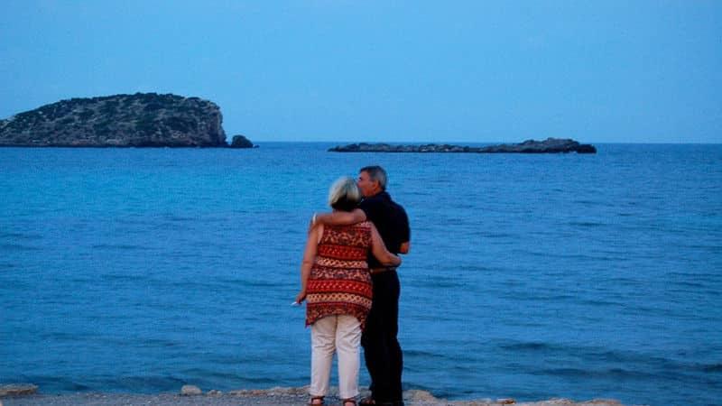 Momento romántico frente al mar
