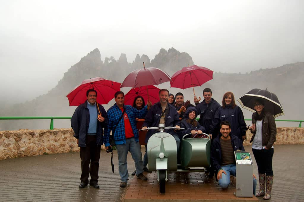 Los participantes del blogtrip a Albacete en Aýna