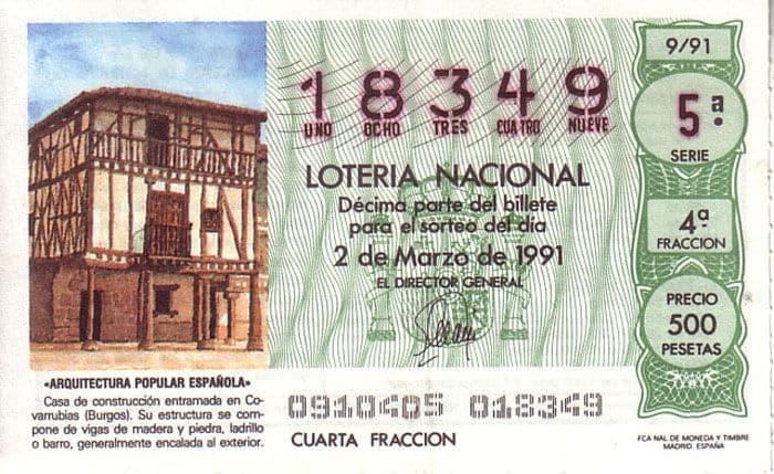 Décimo del 91: Arquitectura Popular Española. Casa de construcción entramada en Covarrubias (Burgos)