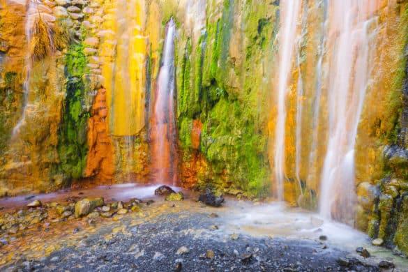 La curiosa Cascada de Colores en la Caldera de Taburiente