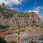Vista del monasterio de Montserrat