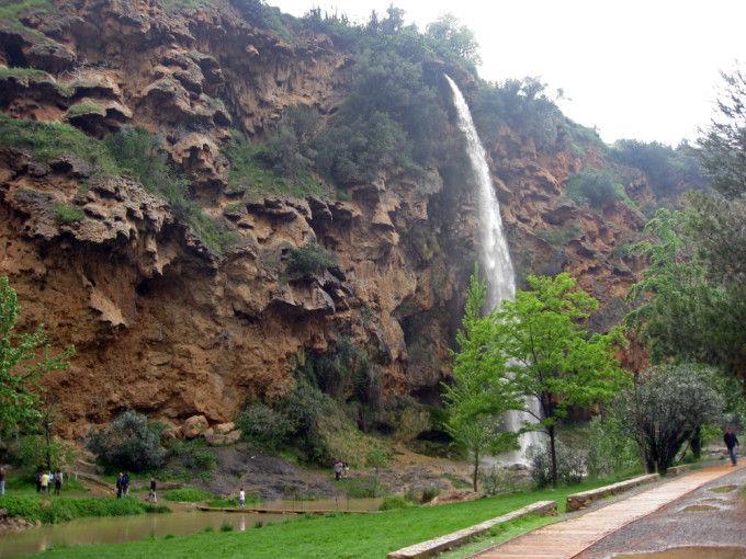Salto de la Novia. Navajas village Castellon province Alto Palan
