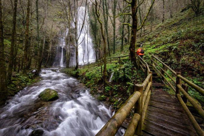 Waterfall in A Fonsagrada, Lugo