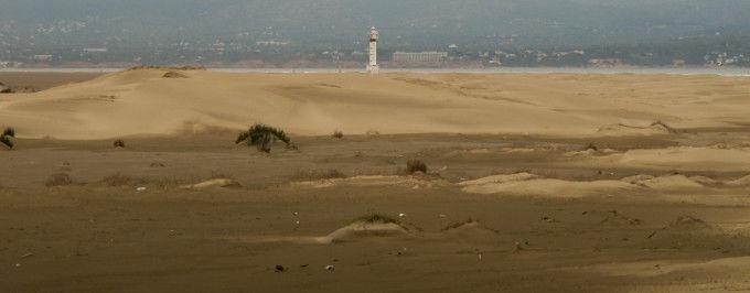 Faro del Fangar en el Delta del Ebro