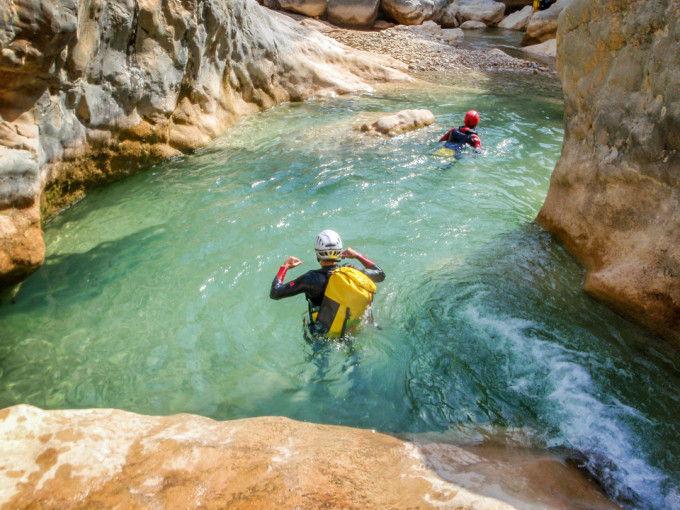 Canyoning in Barranco Oscuros, Sierra de Guara