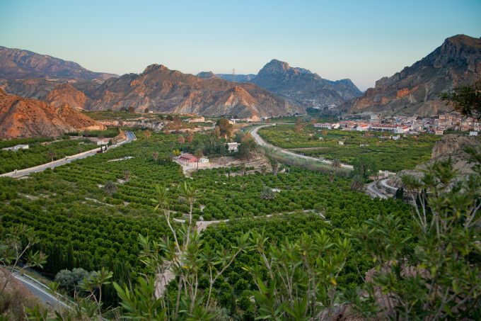 Vista del Valle de Ricote. Fuente: Sergio Gonzalez. Murcia Turística