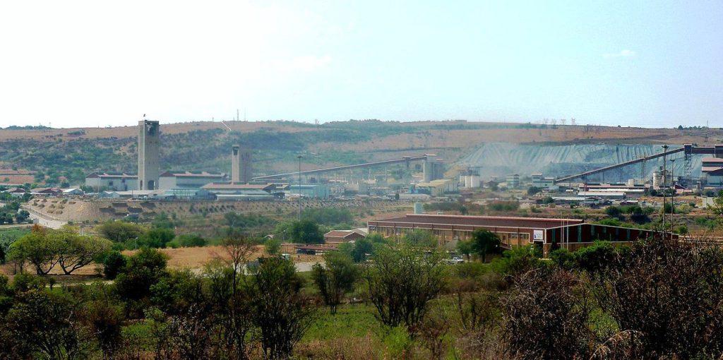 Mina de oro de Sudafrica