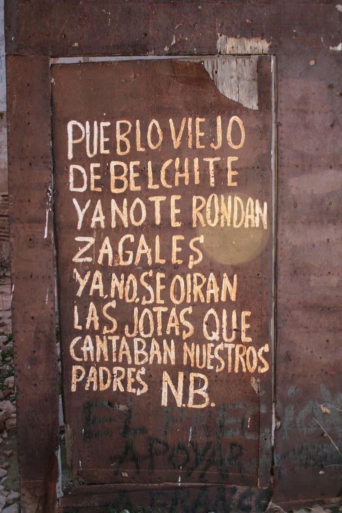 Cartel Belchite