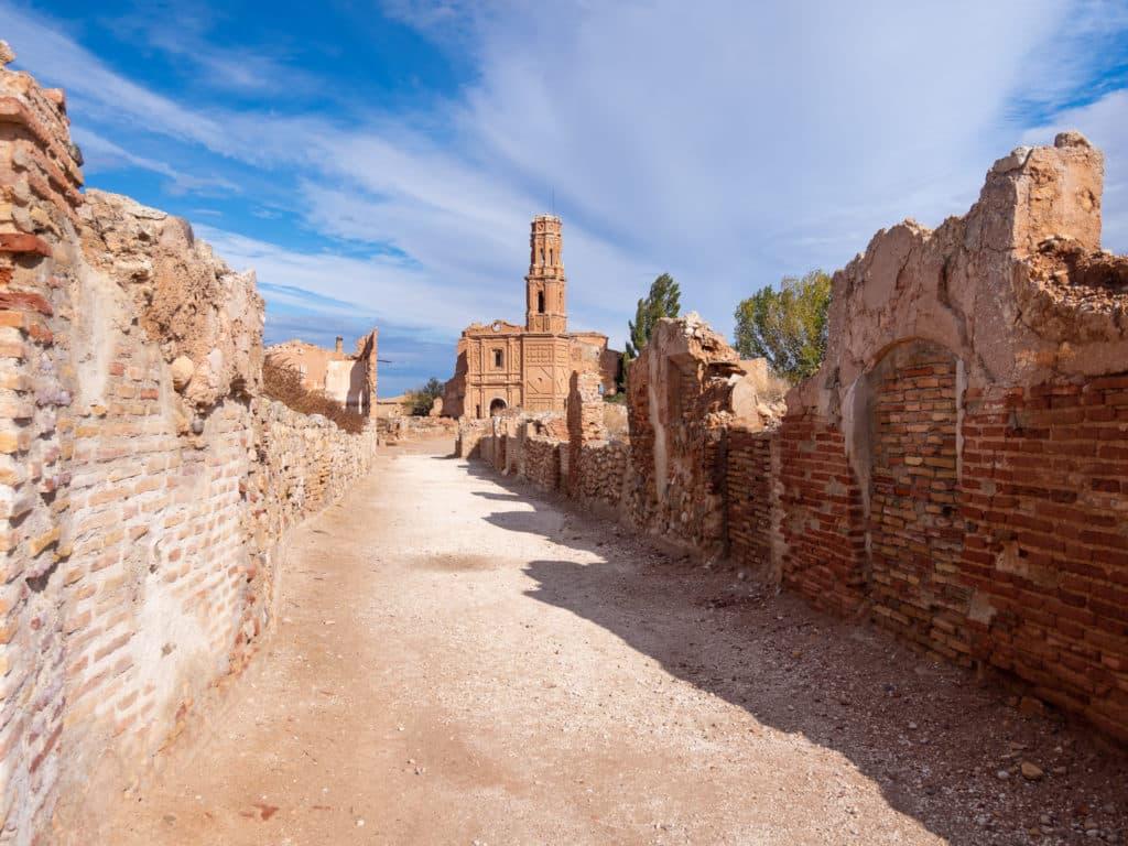 Calles abandonadas de Belchite