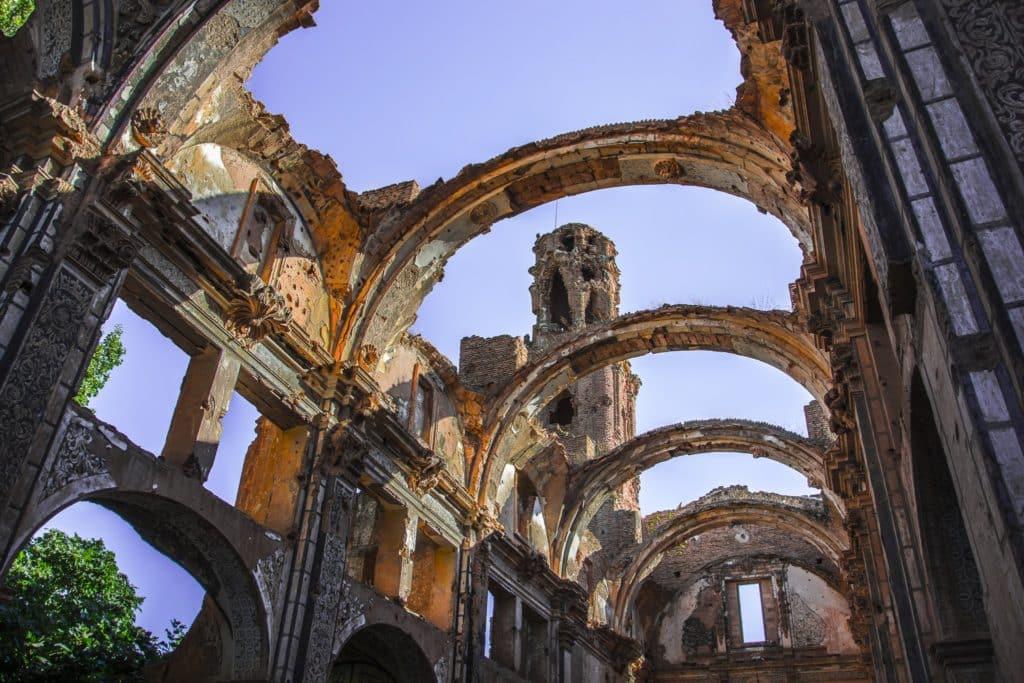 Techos en ruinas de Belchite