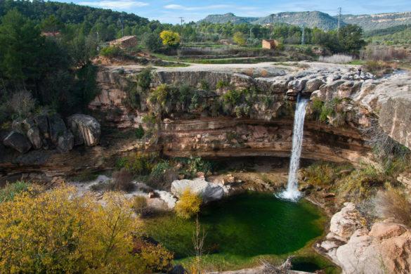 El Salto de la Portellada en el río Tastavins