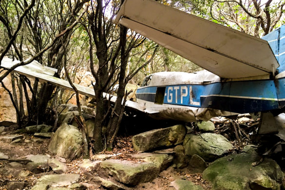 El caso del avión abandonado en el Montseny
