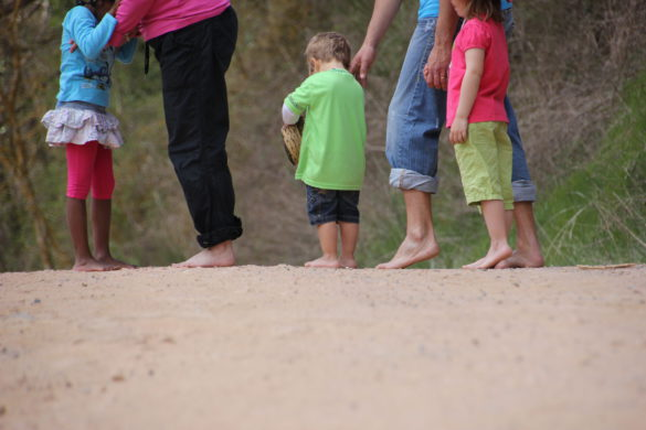 El sendero para caminar descalzo, en Arbúcies