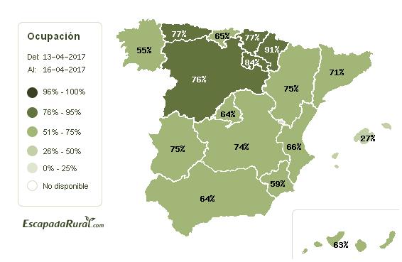 Los alojamientos rurales en el norte de España se llenan esta Semana Santa