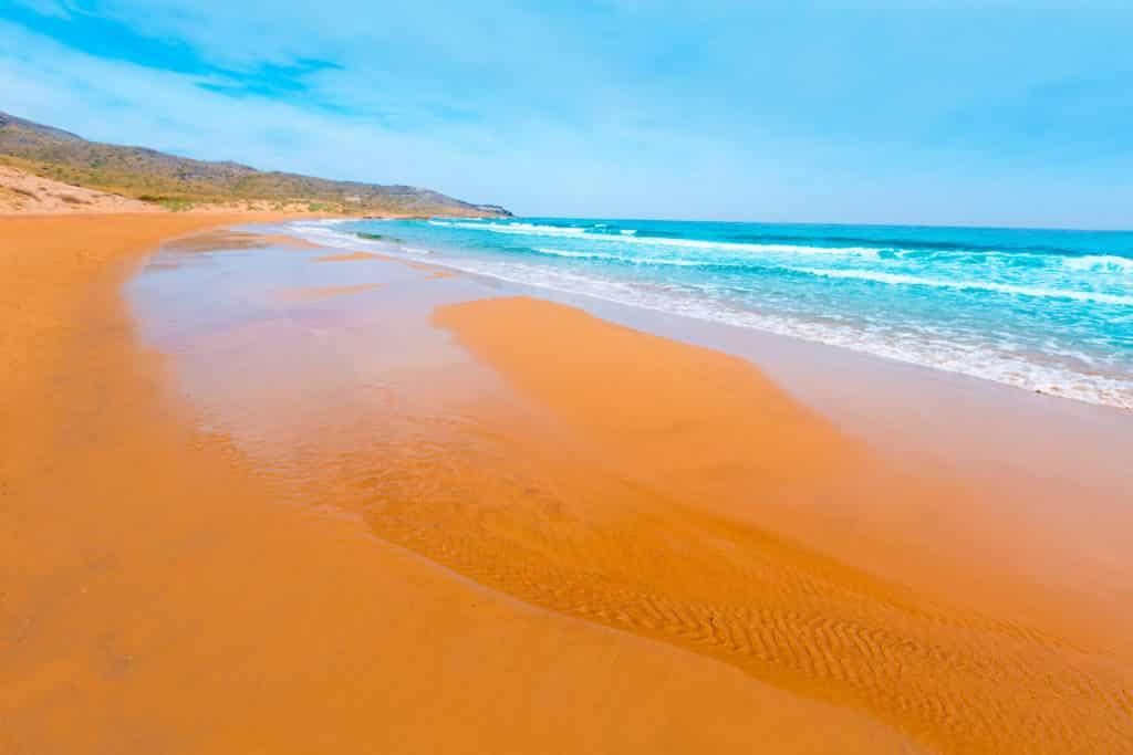 Calblanque beach Park Manga Mar Menor Murcia