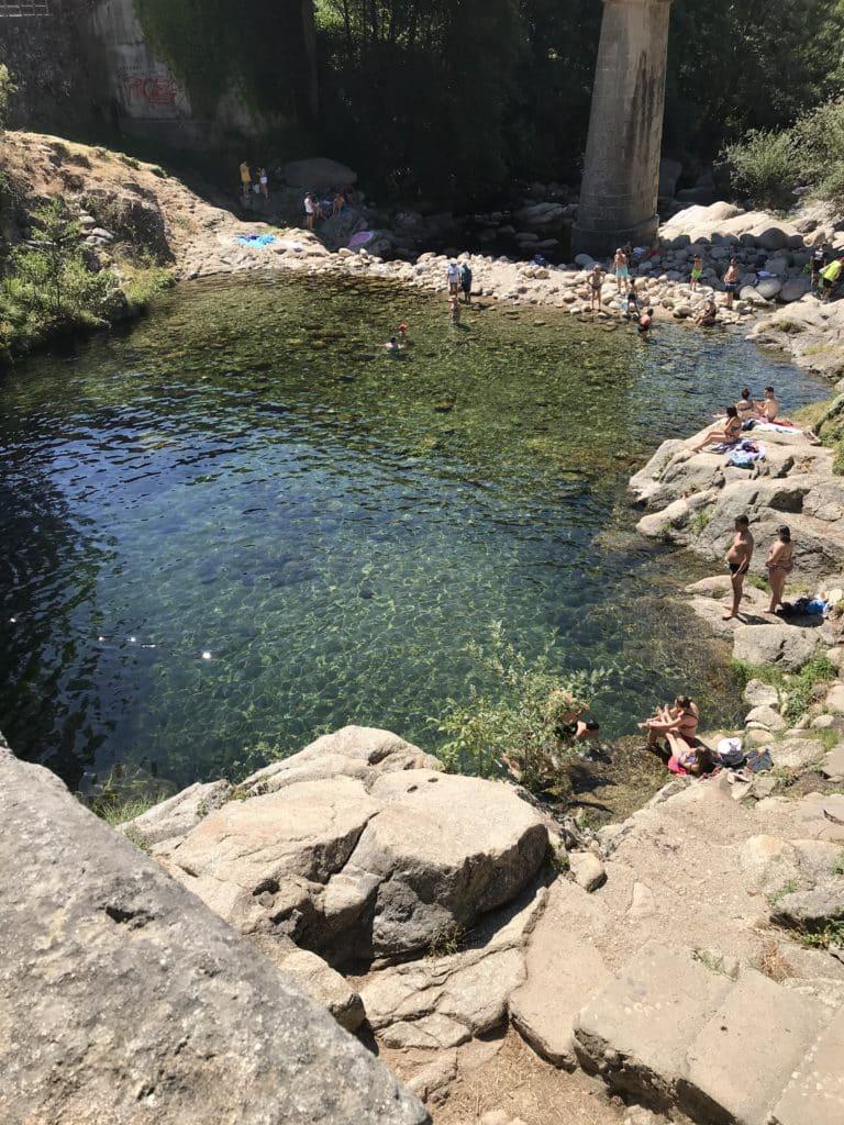 Piscina natural en Cuacos de Yuste, Cáceres
