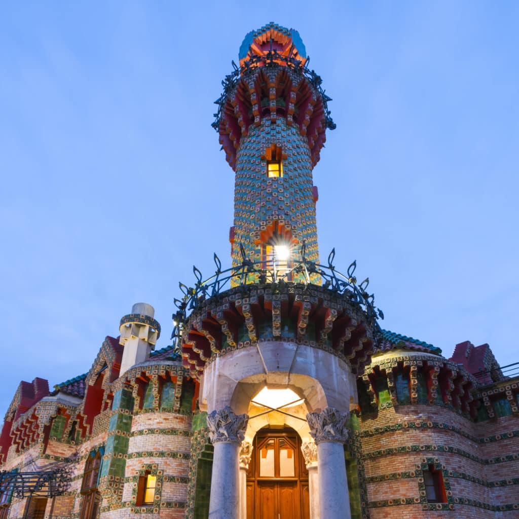 Villa El Capricho de Gaudí, designed by Antoni Gaudí, built in 1883-1885, Comillas, Cantabria, Spain, Europe
