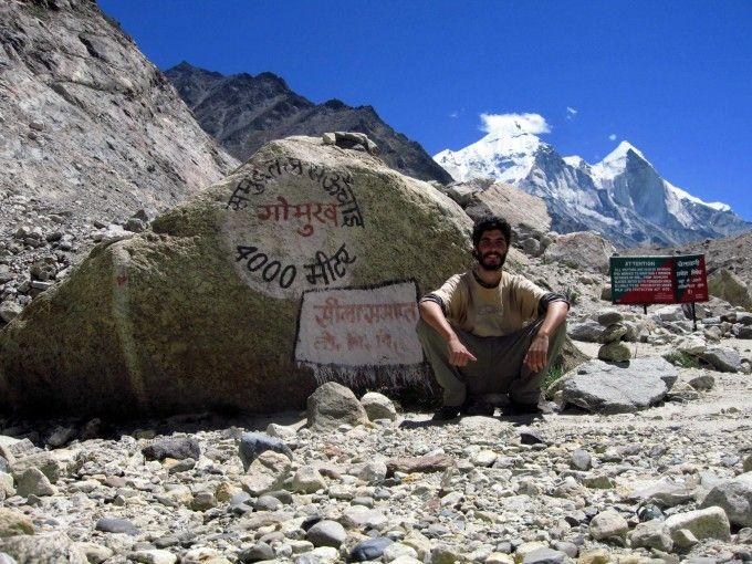A 4.000 metros, cerca del origen del Ganges, que alcancé furtivamente. Fuente: Antonio Aguilar