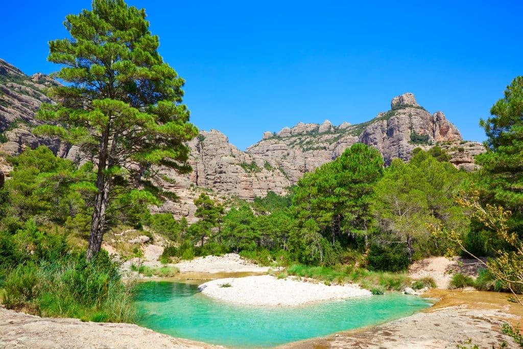 Beceite river Ulldemo in Teruel Spain