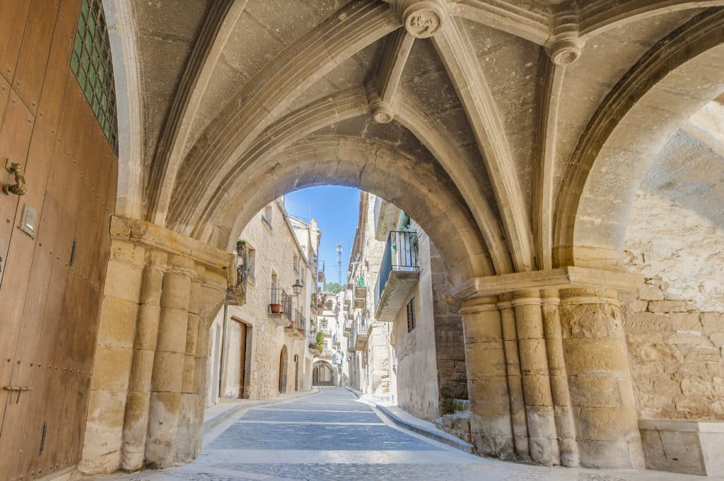 Medieval street at Calaceite, Spain