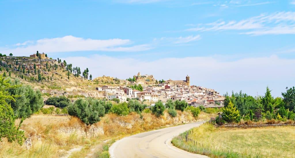 Panorámica de La Fresneda en Teruel, Aragón, España, Europa