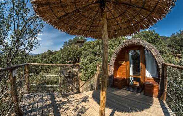 Cabañas en los árboles y ecolodges en la sierra de Madrid