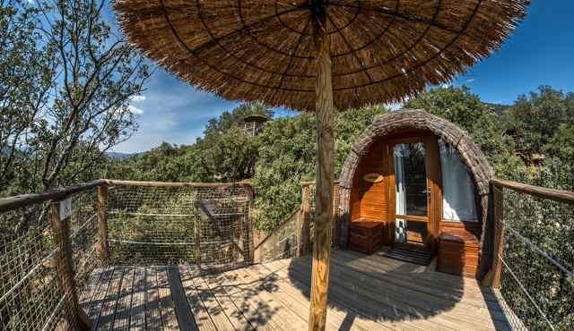 cabañas en los árboles en Madrid