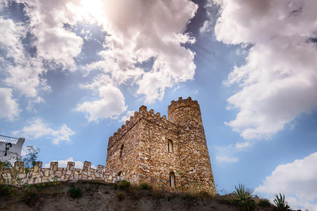 Castle of Líjar in Almería (Spain)