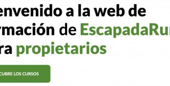 Nueva web de formación de EscapadaRural