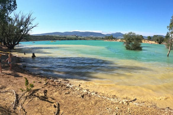 El embalse de Alloz, la playa de Navarra