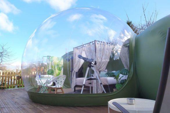 Burbujas para dormir bajo las estrellas