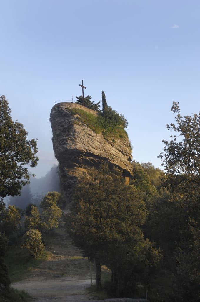 Rocacorba, Sanctuary and Mountain, Canet de Adri, Girona province, Valle de Llémena, Catalonia, Spain