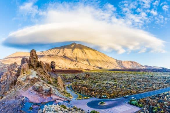 El sombrero del Teide y las extrañas formas de las nubes