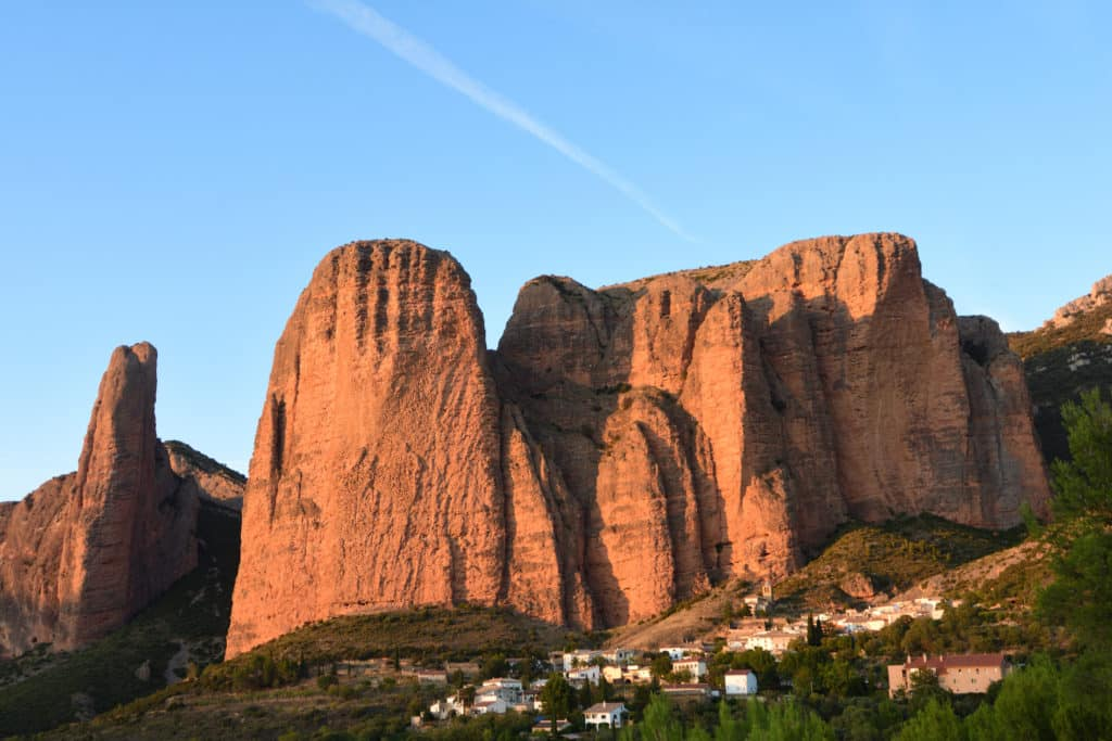 Sunset in the Mallos de Riglos, Huesca province, Aragon, Spain