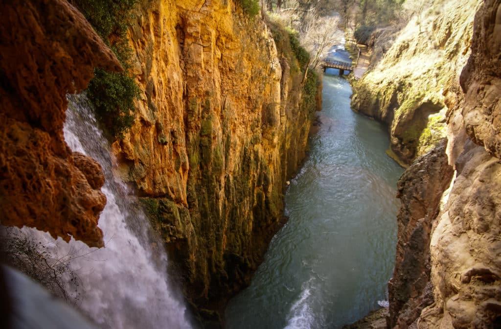 Waterfalls at Monasterio de Piedra, Zaragoza, Aragon, Spain. Ruta por los Caminos del Agua