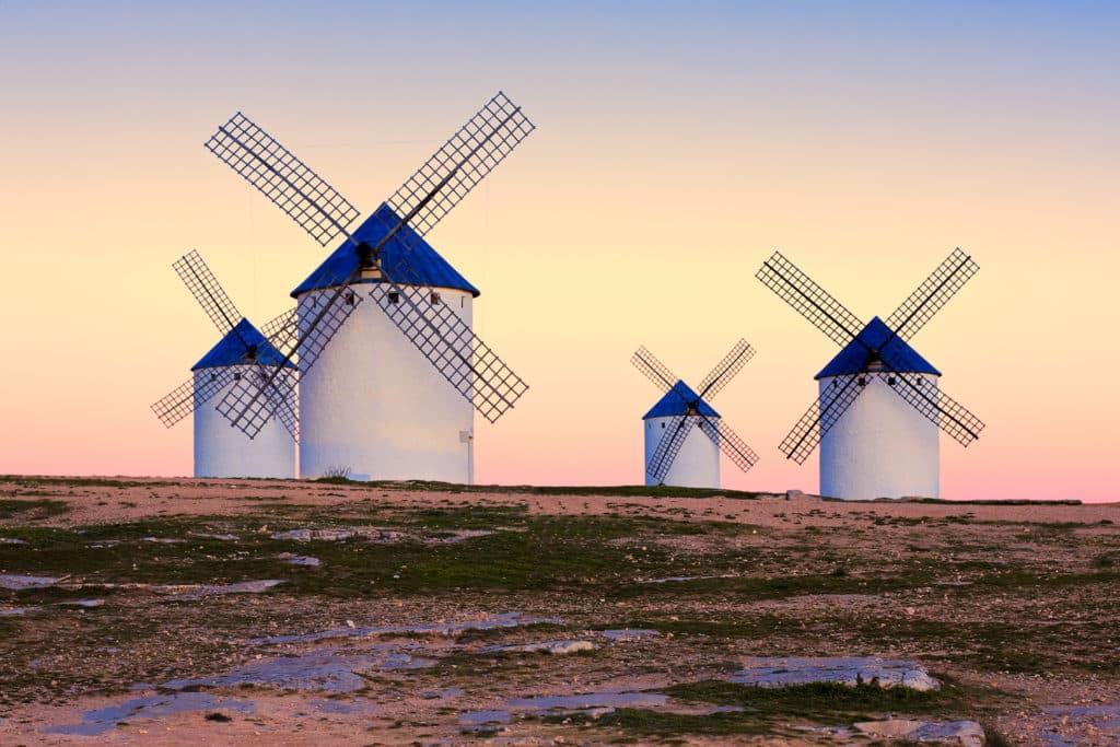 windmill in Campo de Criptana, La Mancha, Spain